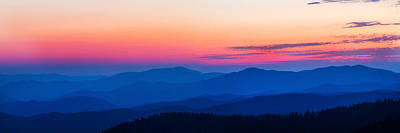 Sunset At Clingmans Dome, Great Smoky Art Print by Panoramic Images