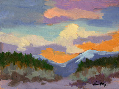 Painting - Sunset At Coachella Valley Study by Diane McClary