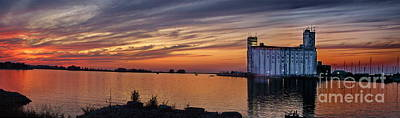 Photograph - Sunset At Collingwood Ontario Harbor  by Andrea Kollo