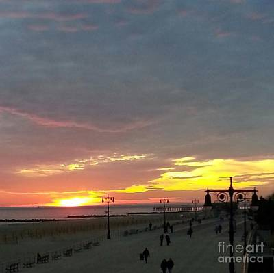 Photograph - Sunset At Coney Island by John Telfer
