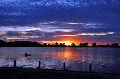 Sunset At Creve Coeur Park Art Print