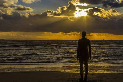 Antony Gormley Photograph - Sunset At Crosby by Paul Madden