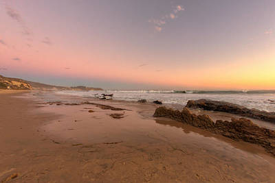 Sunset At Crystal Cove Hdr Art Print by Angela A Stanton