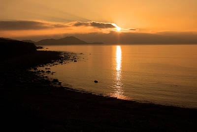 Photograph - Sunset On A Western Shore by Aidan Moran