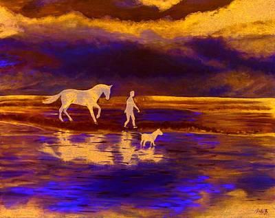 Sunset At Currumbin Art Print by Debbie Beerling