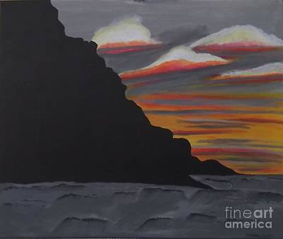 Painting - Sunset At Cwmdu Wales by Tracey Williams