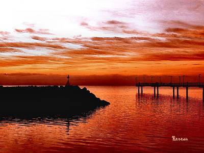 Photograph - Sunset At Des Moines Wa Marina by Sadie Reneau