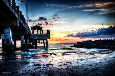 Sunset At Fort Desoto 3 Art Print
