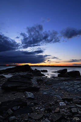 Narragansett Photograph - Sunset At Fort Getty by Lourry Legarde