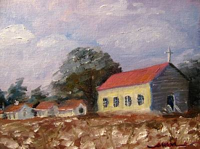Cotton Gin Painting - Sunset At Frogmore by Susan E Jones