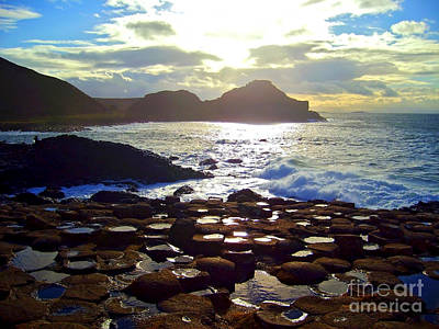 Photograph - sunset at Giant's Causeway by Nina Ficur Feenan