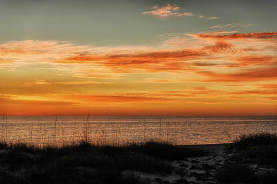 Southwest Florida Sunset Photograph - Sunset At Golden Beach by Frank J Benz