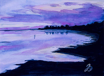 Painting - Sunset At Grado by Jutta B