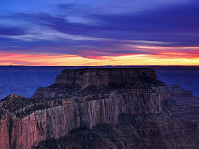 Photograph - Sunset At Grand Canyon North Rim Royal Point  by Schwartz Nature Images