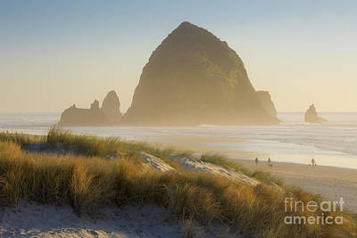 Photograph - Sunset At Haystack Rock by Brian Jannsen