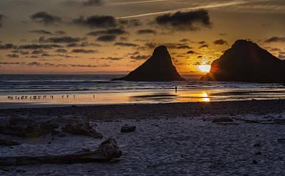 Photograph - Sunset At Heceta Beach by Belinda Greb