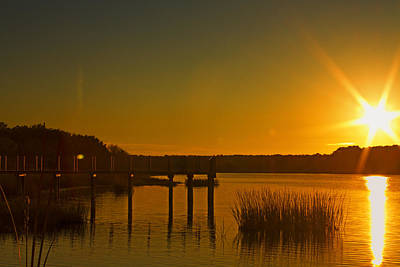 Photograph - Sunset At Hunting Beach State Park by Bill Barber