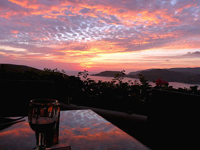 Sunset Over Zihuatanejo Bay Art Print