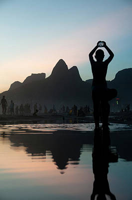 Ipanema Beach Photograph - Sunset At Ipanema Beach, Rio De by Kevin Berne