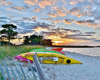 Photograph - Sunset At James Farm Ocean View Delaware by Kim Bemis