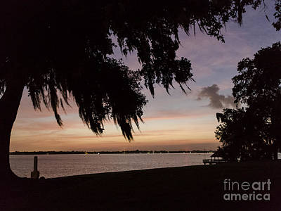 Sunset At Jefferson Island Art Print by Kelly Morvant