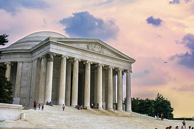 Photograph - Sunset At Jefferson Memorial by Mary Almond