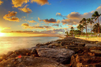 Sunset Photograph - Sunset At Kakaako, Oahu by Anna Gorin