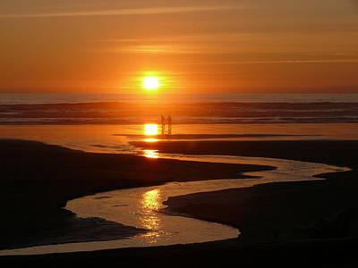 Sunset At Kalaloch Art Print by Joel Deutsch