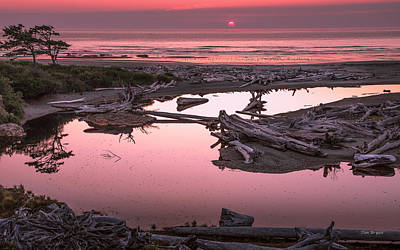 Photograph - Sunset At Kalaloche....  Oympic National Park by Tim Bryan
