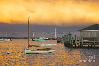 Sunset At Kennedy Compound Art Print