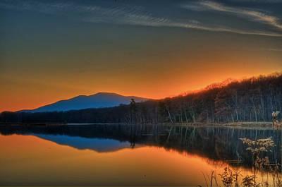 Photograph - Sunset At Kenozia Lake by Steven Mancinelli