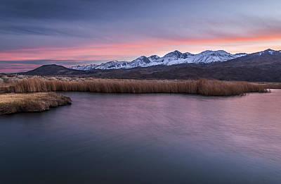 Sunset At Klondike Lake Print by Cat Connor