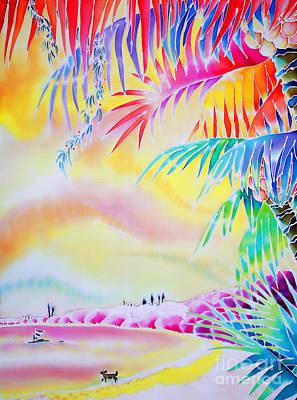 Sunset At Kuto Beach Art Print