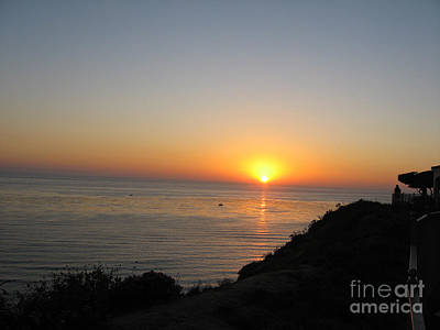 Photograph - Sunset At Laguna Niguel California by Conni Schaftenaar