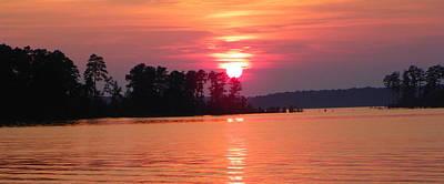 Clarks Hill Lake Photograph - Sunset At Lake by Gene Sheffield