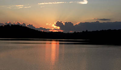 Muskoka Wall Art - Digital Art - Sunset At Lake Of Bays  by Pat Speirs