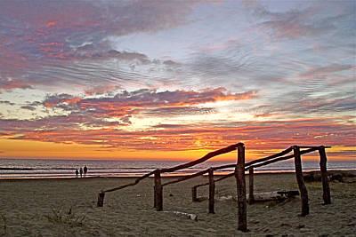 Gloria Digital Art - Sunset At Las Glorias Over Sea Of Cortez-sinaloa by Ruth Hager