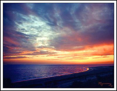 Sunset At Lido Key Art Print by Mariarosa Rockefeller