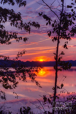 Art Print featuring the photograph Sunset At Loch Raven by ELDavis Photography