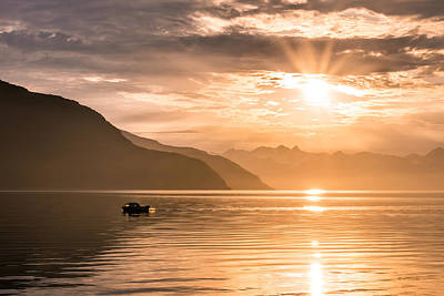 Photograph - Sunset At Lyngenfjord by Janne Mankinen