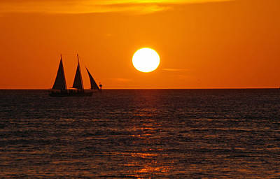 Photograph - Sunset At Mallory Square by Greg Graham