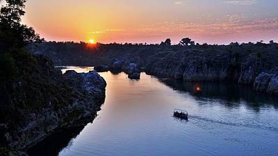 Photograph - Sunset At Marble Rocks - Jabalpur India by Kim Bemis