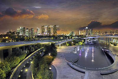 Outdoors Photograph - Sunset At Marina Barrage by David Gn