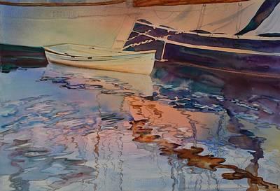 Painting - Sunset At Marina by Elena Balekha