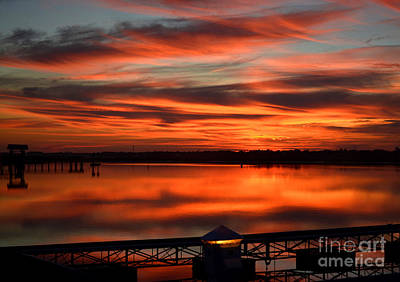 Photograph - Sunset At Marlin Quay Marina by Kathy Baccari