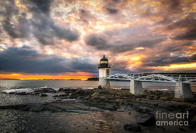 Mid-coast Maine Photograph - Sunset At Marshall Point by Scott Thorp