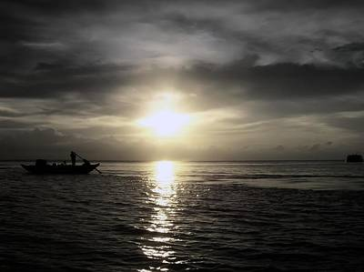 Photograph - Sunset At Meghna by Daniel Chowdhury