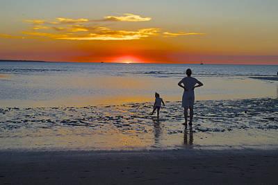 Sunset At Mindil Beach Art Print by Venetia Featherstone-Witty