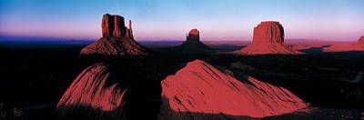 Sunset At Monument Valley Tribal Park Art Print
