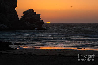 Irish Leprechauns - Sunset at Star Gazer Rock  6833 by Stephen Parker